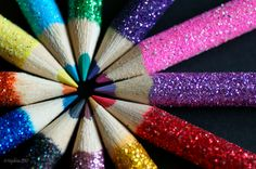 Loveeeee these colored pencils, so glittery!!
