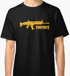 Fortnite Gold Scar Classic T-Shirt Art Projects, Classic T Shirts, Gaming, Design Inspiration, Mens Tops, Gold, Videogames, Game, Art Designs