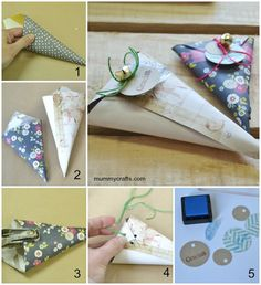 como hacer cucuruchos de papel