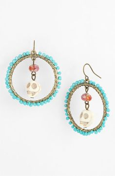 Spring Street Design Group Skull Bead Earrings (Nordstrom Exclusive) available at #Nordstrom