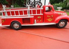 vintage tonka trucks | Vintage 1956 TONKA Pumper Fire Truck No. 5 in South Bend, Indiana For ...