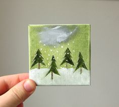 Love the mini paintings at this Etsy shop!