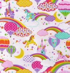 Custom Listing for Twirlicious  Glitter Unicorns by fabricsupply