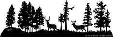 16 inch x 48 inch Deer Decorative Silhouette
