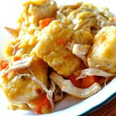 """Slow Cooker Chicken and Dumplings 
