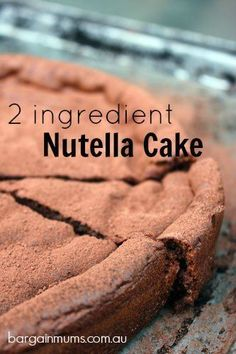 This 2 INGREDIENT NUTELLA CAKE is made using only eggs and Nutella, yet makes the most delicious cake http://bargainmums.com.au/2-ingredient-nutella-cake