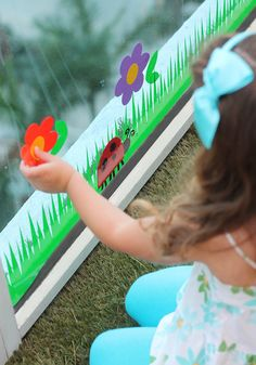 Window Cling Garden by Damask Love. Make It Now with the Cricut Explore machine in Cricut Design Space.