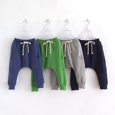 Hot selling size90~130 2016 solid children pants for boys trousers girls harem pants candy kids child 5 colors