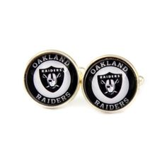 Oakland Raiders Logo cufflinks. American football cufflinks.  AFL. NFL. AFC. Personalised  Men's jewelry accessories gift. by Mysstic on Etsy