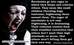 Raging Narsisst will try to destroy your reputation so as not to be exposed by you. They generally manage to do it because people are unaware that these monsters live among us. https://sobreviviendoapsicopatasynarcisistas.wordpress.com/