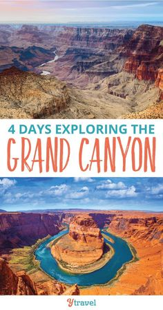 Check out our tips on how to spend 4 days exploring the Grand Canyon. This Arizona National Park is an epic US travel destination with kids.  We found we could see the main sites in 4 days, and share our itinerary and tips here.  Including incredible hikes and scenic drives, beautiful photography and picture ideas, and including camping and lodging tips and all the best things to do in the park.  Waterfalls, hiking, road trip ideas and more - read this travel guide! #GrandCanyon #Arizona #travel