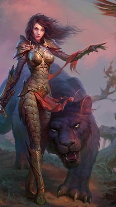 f Cleric Med Armor m Druid Black Panther companions Dragon Eternity, video game, woman, black panther, wallpaper Dark Fantasy Art, Fantasy Girl, Fantasy Artwork, Fantasy Art Women, Fantasy Portraits, Beautiful Fantasy Art, Anime Fantasy, Fantasy Warrior, Woman Warrior
