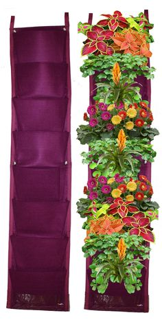 8 Pocket Vertical Garden Planter By Invigorated Living, Waterproof Garden Pots for Indoor & Outdoor Use on Patios, Balconies & Apartments, Easy to Hang & Fill with Flowers, Herbs & Vegetables