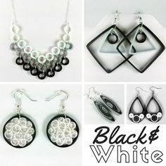 Is your mom cool and classic?  Try these black and white beauties handmade from paper for Mother's Day.