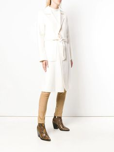 Shop white Michael Michael Kors belted midi coat with Express Delivery - Farfetch