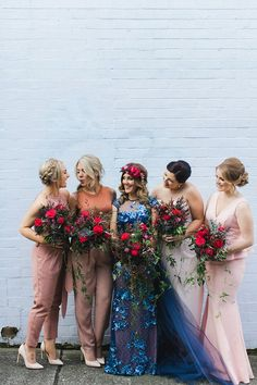 29 bridesmaid outfit ideas that will suit every individual. Mix and match, pops of colour, skirts & tops, embellishment, boho, vintage, floral, jumpsuits to name a few.
