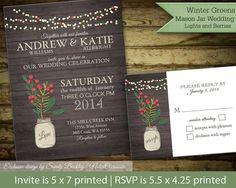 Rustic winter wedding invitations. http://www.etsy.com/listing/165016035/rustic-winter-wedding-invitations-suite