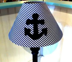 Anchor lamp shade/nautical decor /coottage decor by polkadotpillow, $24.99