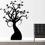 nuevo vinilo en nuestra categoría de vinilos decorativos inspirados en la naturaleza: vinilo decorativo de un árbol con hojas en sus ramas Home Decor, Branches, Vinyls, Mosaics, Courtyards, Naturaleza, Interiors, Blue Prints, Decoration Home