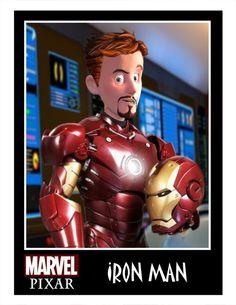 Pixar Style Superhero Character Art