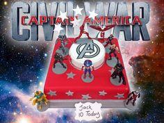 The Brilliant Bakers - Captain America Civil War Cake, £89.00 (https://www.thebrilliantbakers.co.uk/captain-america-civil-war-cake/) #captainamerica