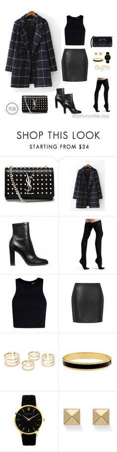 """""""Untitled #42"""" by uchechinwasike on Polyvore featuring Yves Saint Laurent, Commando, T By Alexander Wang, Boutique, Halcyon Days, Larsson & Jennings, Palm Beach Jewelry and Gucci"""
