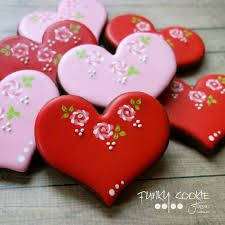 Image result for valentine decorated sugar cookies
