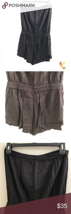 Aritzia Black Strapless Romper Shorts romper from Aritzia worn only a few times. Elasticized top hem keeps it on, elasticized waist to emphasize waist line Aritzia Shorts