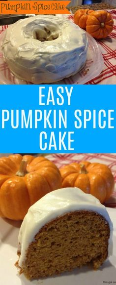 This easy pumpkin spice cake is super moist and full of bold fall flavors! You'll love this fall favorite cake and the cream cheese frosting, too!
