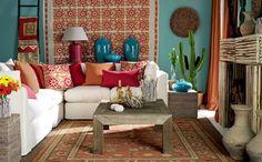 Decoração de sala de estar inspiração Frida