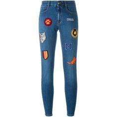 Stella McCartney Skinny Jeans mit Aufnähern.