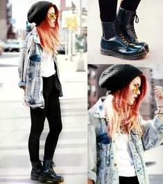 DOCS & DENIM (by Lua P) http://lookbook.nu/look/4681289-DOCS-DENIM