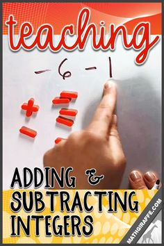 adding and subtracting integers - a guided investigation approach Integers Activities, Math Rotations, Algebra Activities, Numeracy, Math Resources, Adding And Subtracting Integers, 7th Grade Math, Sixth Grade, Math Strategies