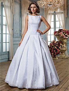 A-line Straps Ankle-length Lace Wedding Dress (631205) – GBP £ 125.27