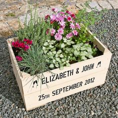 Personalised Wedding anniversary personalised wooden gift crate