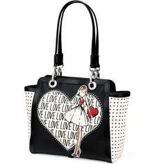Darlynn Tote, from the Fashionista Collection by Brighton Brighton Purses, Brighton Handbags, Brighton Bags, Unique Handbags, Unique Purses, White Handbag, White Purses, Cute Bags, Tote Handbags