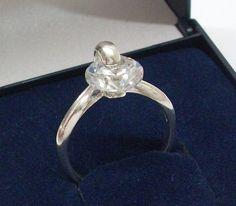 925 Silberring Ring Silber mit Kristall Größe 158 von Schmuckbaron