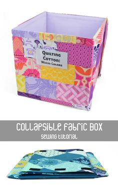 Collapsible Fabric Boxes -- sewing tutorial This one is a little bit beyond my reach right now with my headache but looks pretty easy