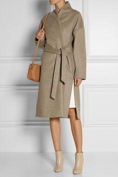 Totême Chelsea wool-blend felt wrap coat NET-A-PORTER.COM