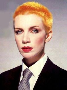 """Annie Lennox We all remember the hit single """"Sweet Dreams (Are Made of This)"""" by Eurhythmics released in the The British duo was made of David A. Stewart and Annie Lennox. The Tourist, Heavy Metal, Perfect People, Lita Ford, Joan Jett, Music Icon, Iconic Women, Female Singers, 1980s"""