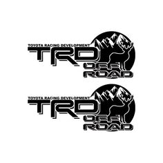 2X Multiple Color Toyota TRD 4RUNNER TACOMA Off-Road Deer Hunting decal Sticker | eBay