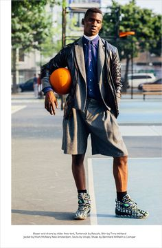 Fashion photographer David Urbanke captures the Courtside story for Hello Mr. Magazine with model Adonis Bosso from DNA Models.