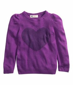 Girl's sweater in two-tone purple | H&M US