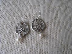 Spoon Earrings  Spoon Jewelry   Antique Silver by TheBeadLadies, $25.00