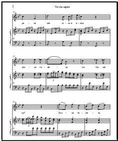 Voi che sapete voice with piano accompaniment in Bb (original key), Ab, G, and F!