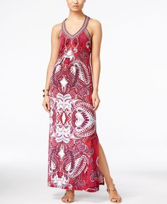 Inc International Concepts Printed T-Back Maxi Dress, Only at Macy's