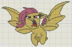 Buzy Bobbins: Flutterbat - My Little Pony Cross Stitch Design