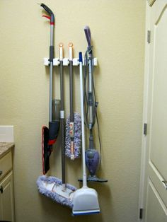 Still loving my Evriholder Magic Holder 5-Position Wall Organizer.  It's perfect, hanging on the wall behind the laundry room door, for holding mops and brooms and dusters - and I feel so organized!