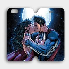 superman and wonder woman kiss iPhone 6 Case | Cozymoshi