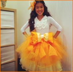 Tiffany Espensen Dresses As Candy Corn For Halloween